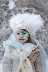 Lumeprintsess näomaaling väike